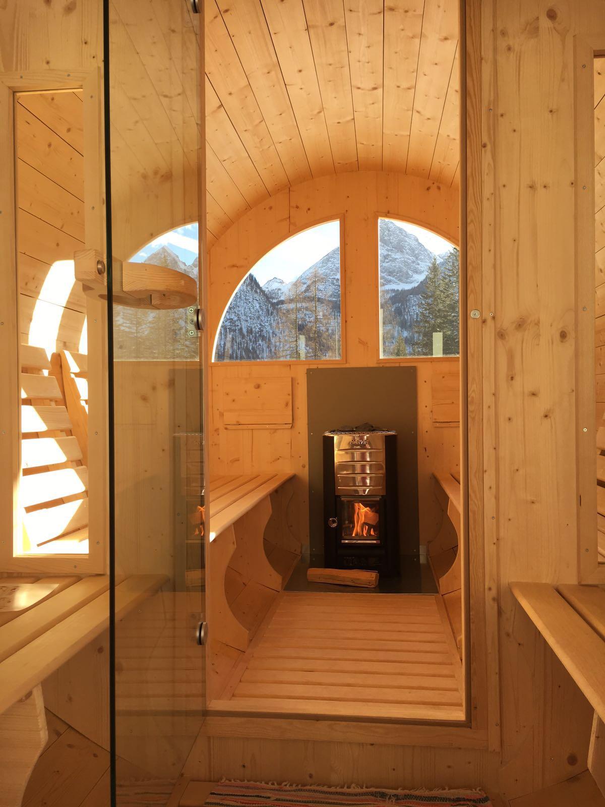 mit verbrennung in die sauna