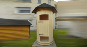 Dusche in Holz