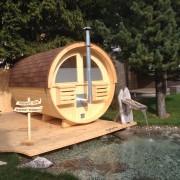 Retro sauna a legna
